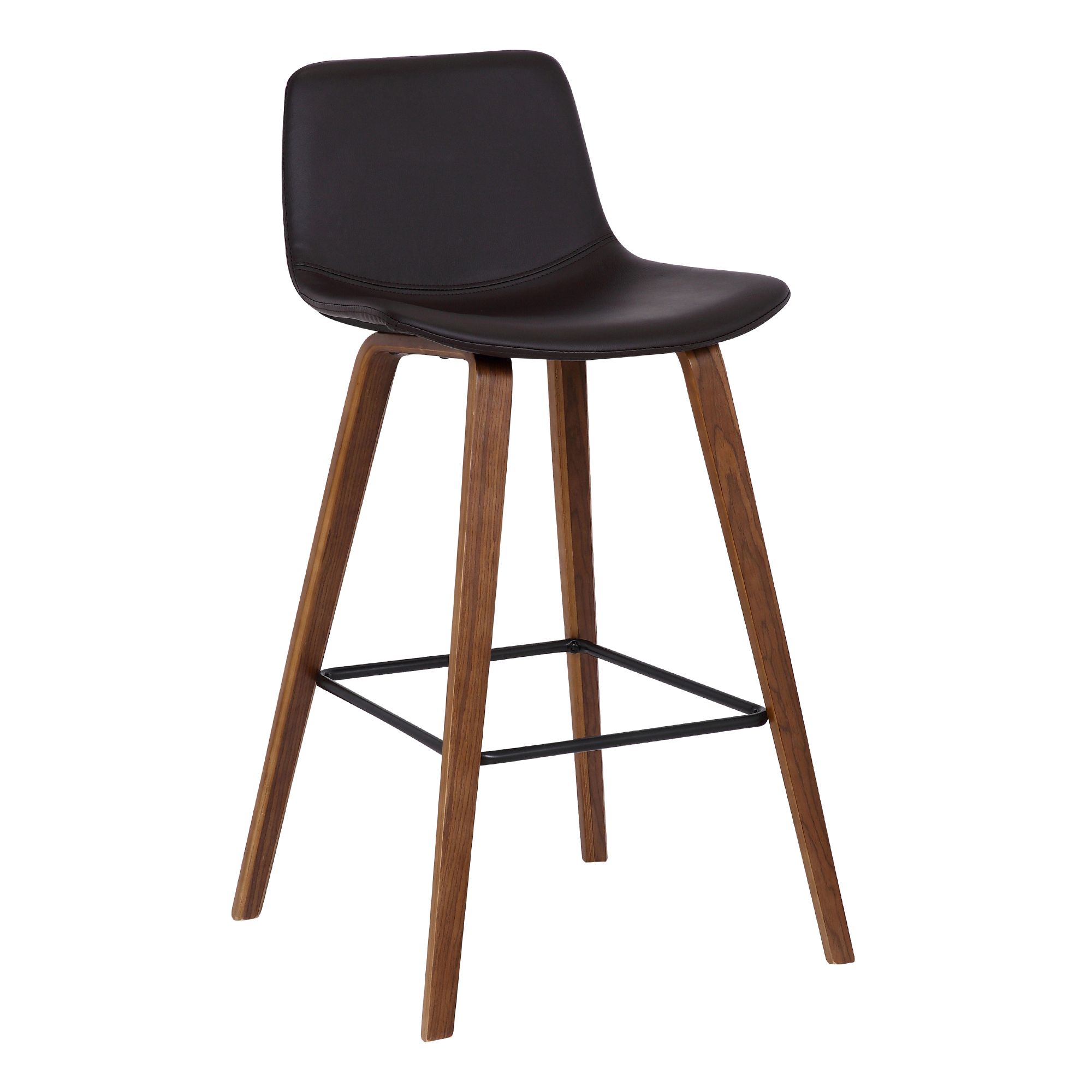 Magnificent Details About Armen Living Maddie 26 Contemporary Counter Height Bar Stool In Walnut Wood Fin Lamtechconsult Wood Chair Design Ideas Lamtechconsultcom