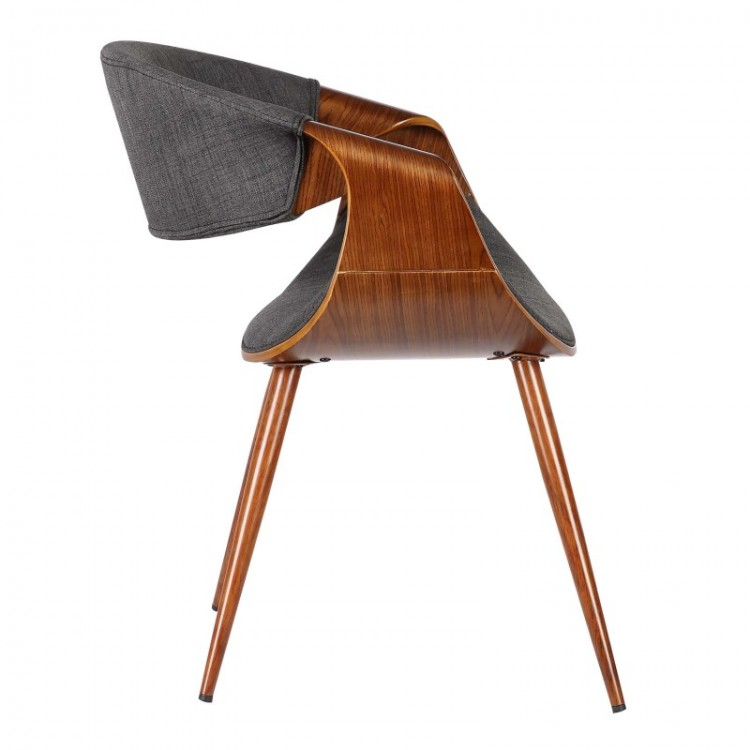 Armen Living Butterfly Mid-Century Dining Chair In Walnut