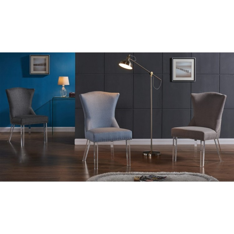 Turquoise Acrylic Dining Chairs Handy Living Sirena Deep