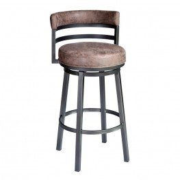 "Madrid 26"" Barstool in Mineral finish with Bandero Tobacco upholstery"