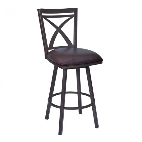 "Nova 30"" Barstool in Auburn Bay finish with Brown Pu"
