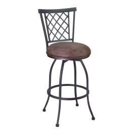 "Armen Living Reno 26"" Barstool in Mineral finish with Bandero Tobacco upholstery"
