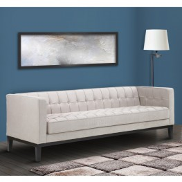 Roxbury Sofa In Tufted Cream Fabric