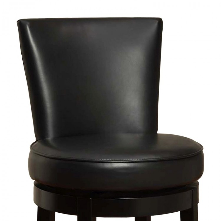 Boston Swivel Barstool In Black Bonded Leather 26 Seat Height