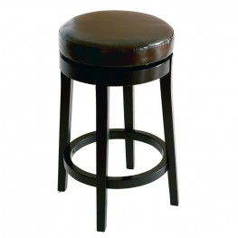 "Mbs-450 30"" Backless Swivel Barstool in Brown Bonded Leather"