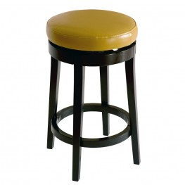 "Mbs-450 30"" Backless Swivel Barstool in Wasabi Bonded Leather"