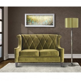 Barrister Loveseat In Green Velvet