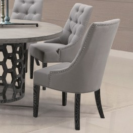 Centennial Dining Chair In Linen Fabric (Set Of 2)