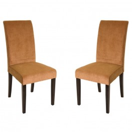 Tobacco Fabric Color Side Chair (Set of 2)