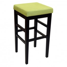 "Sonata 30"" Stationary Barstool in Green Microfiber with Black Legs"