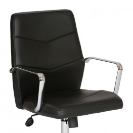 Viken Contemporary Office Chair In Black and Chrome