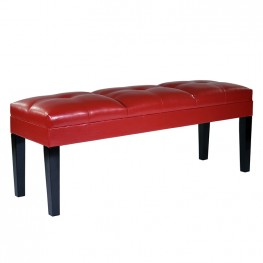 Armen Living Howard Bench Red Bonded Leather
