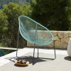 Acapulco Indoor Outdoor Steel Papasan Lounge Chair with Wasabi Rope