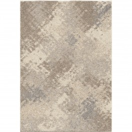 Airhaven Contemporary 5x8 Area Rug in Cream/Grey