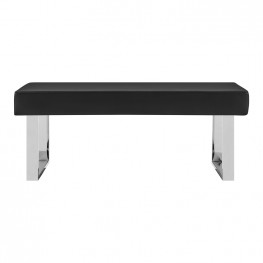 Armen Living Amanda Black Bench