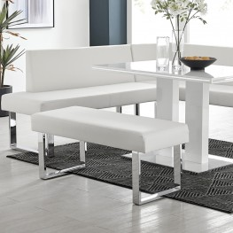 Armen Living Amanda White Bench