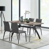 Andes Ceramic and Metal Rectangular Dining Room Table