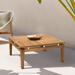 Arno Outdoor Square Teak Wood Coffee Table