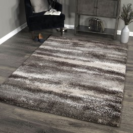 Brookfield Contemporary 8x10 Area Rug in Charcoal/Beige