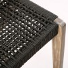 """Brielle 30"""" Outdoor Light Eucalyptus Wood and Charcoal Rope Bar Stool"""
