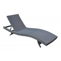 Armen Living Cabana Outdoor Adjustable Wicker Chaise Lounge Chair