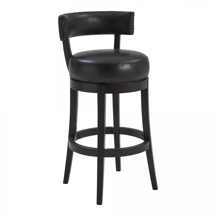 Strange Armen Living Corbin 30 Bar Height Barstool In Espresso Caraccident5 Cool Chair Designs And Ideas Caraccident5Info