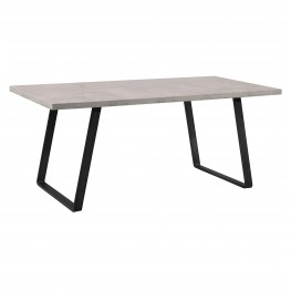 Coronado Contemporary Dining Table in Grey Powder Coated Finish with Cement Gray Top