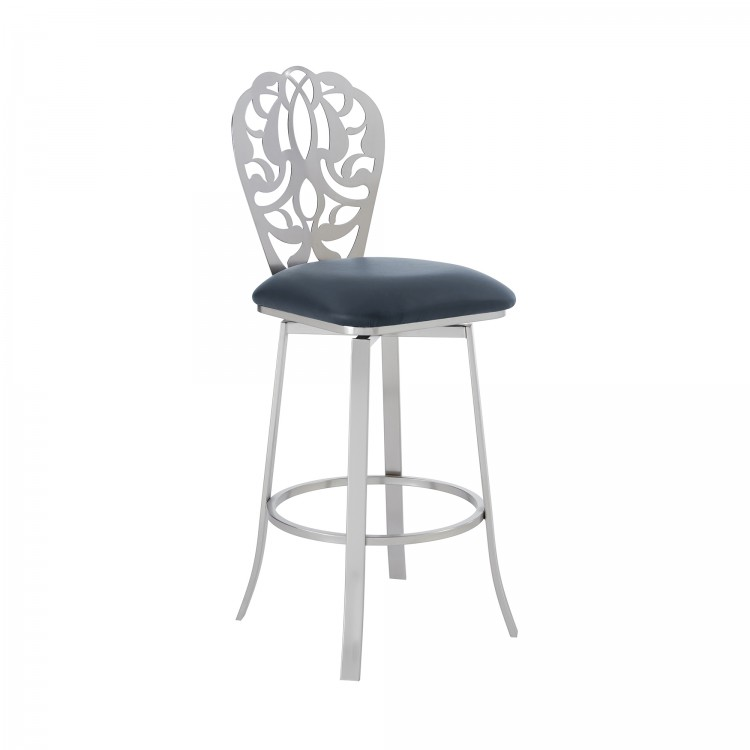 Miraculous Cherie Contemporary 26 Counter Height Barstool In Brushed Gmtry Best Dining Table And Chair Ideas Images Gmtryco