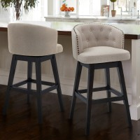"Celine 26"" Counter Height Barstool in Espresso Finish and Tan Fabric"