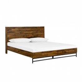 Cusco Rustic Acacia Platform King Bed
