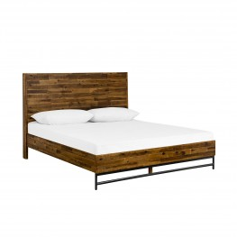 Cusco Rustic Acacia Platform Queen Bed