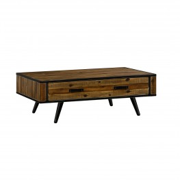 Cusco Rustic Acacia Coffee Table with Drawer