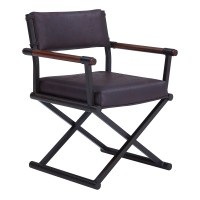 Director Contemporary Dining Chair in Auburn Bay Finish and Bandero Espresso Fabric