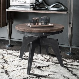 Dayton Industrial Coffee Table in Industrial Grey and Pine Wood Top