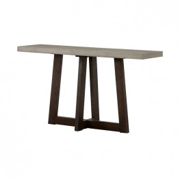 Elodie Grey Concrete and Dark Grey Oak Rectangle Console Table
