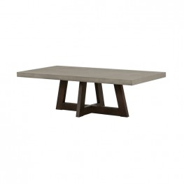 Elodie Grey Concrete and Dark Grey Oak Rectangle Coffee Table
