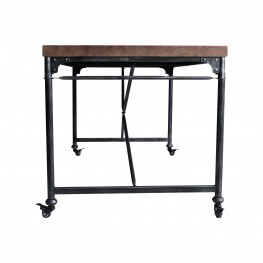 Armen Living Enzo Industrial Dining Table in Industrial Grey and Pine Wood