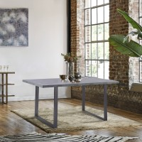 Armen Living Fenton Contemporary Dining Table with Cement Gray Top