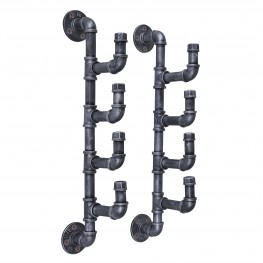 Fleur Industrial Wine Rack in Industrial Grey