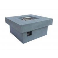 Armen Living Marquee Outdoor Patio Fire Pit in Light Grey with Concrete Texture Finish