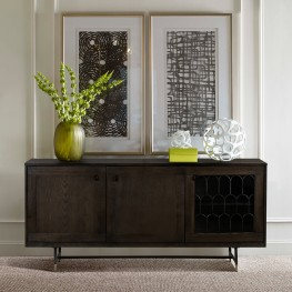 Gatsby Oak and Metal  Buffet Cabinet