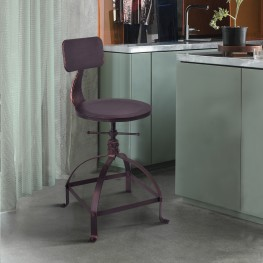 Jace Industrial Adjustable Barstool in Industrial Copper