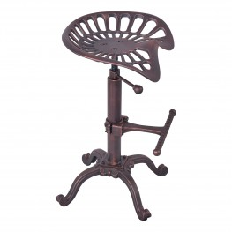 Jax Industrial Adjustable Barstool in Industrial Copper