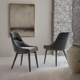 Lileth Charcoal Upholstered Dining Chair - Set of 2
