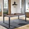 Lars Industrial Dining Table in Industrial Grey and Pine Wood