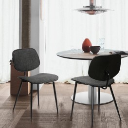 Lizzy Charcoal Modern Dining Accent Chairs - Set of 2