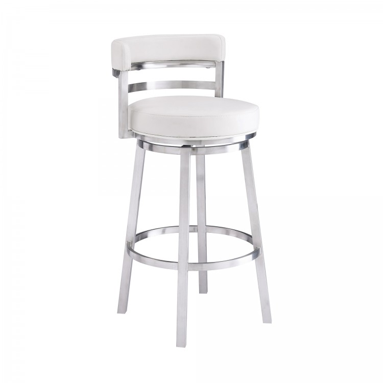 Groovy Madrid Contemporary 30 Bar Height Barstool In Brushed Pdpeps Interior Chair Design Pdpepsorg