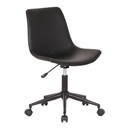Optima Adjustable Black Faux Leather Task Chair