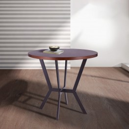 Pike Contemporary Bar Table in Auburn Bay Finish and Sedona Wood Top