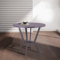 Pike Contemporary Bar Table in Mineral Finish and Gray Walnut Top